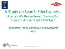 A Study on Search Effectiveness