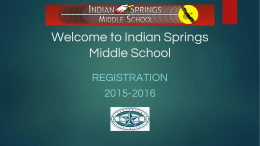 7th to 8th Grade registration ISMS
