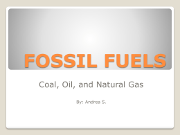 fossil fuels - Riverside Secondary School