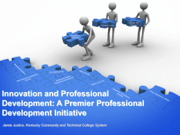 Innovation and Professional Development