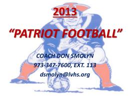 Lenape Valley Football Special Teams Practice