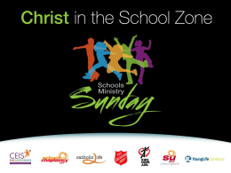 Schools Ministry Sunday – powerpoint