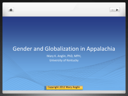 Gender and Globalization in Appalachia