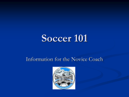 Soccer 101 PowerPoint - Dakota Alliance Soccer Club