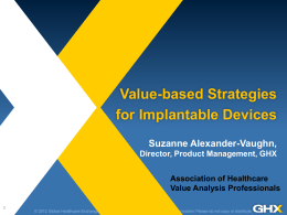 Value-Based Strategies for PPI and Implantable Devices