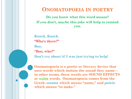 Onomatopoeia in poetry