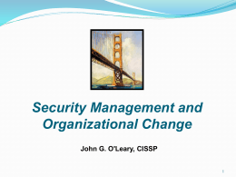 Security - ISACA Denver Chapter