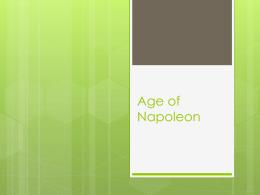 Age of Napoleon Lecture