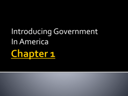Chapter 1 - Introducing Government