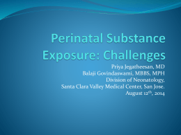 Perinatal Substance Exposure