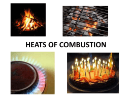 heats of combustion