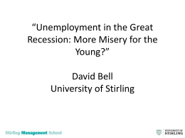 Unemployment in the Great Recession: More Misery for the Young