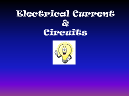 Electric Current and Circuits Powerpoint