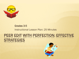 Peer Edit with Perfection: Effective Strategies