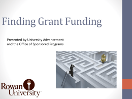 Finding and Applying for Grant Funding