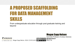 A proposed scaffolding for data management skills