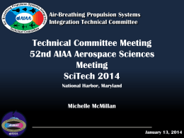 Air Breathing Propulsion Systems Integration TC