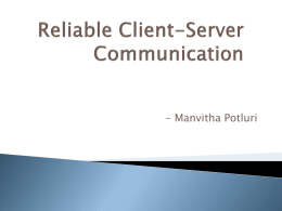 Reliable Client-Server Communication