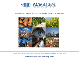 View the Slide show - ACE GLOBAL Depository
