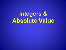 Integers Absolute Value