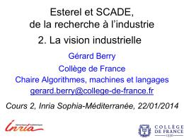 Esterel et SCADE, de la recherche à l*industrie