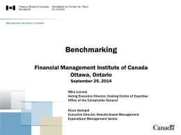 Internal Service Benchmarking - Financial Management Institute of