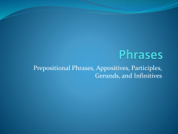 Phrases - Mr. Keeble`s Class
