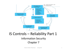 IS Controls * Reliability Part 1