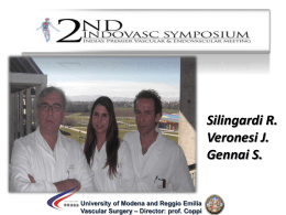 Diapositiva 1 - Chirurgia Vascolare di Modena