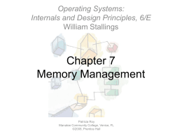 Chapter 07: Memory Management