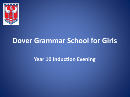 New Maths GCSE - Dover Grammar School for Girls