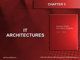 Chapter 5: IT Architectures