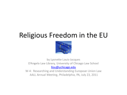 Religious Freedom in the EU