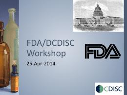 FDA/DCDISC Workshop