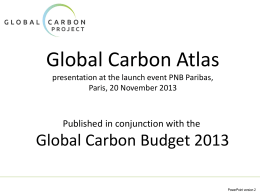 PowerPoint - Global Carbon Atlas