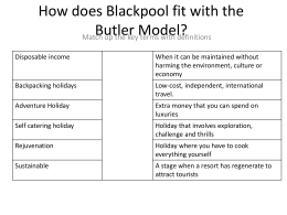 How does Blackpool fit with the Butler Model?