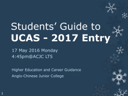 Briefing slides for UCAS 2017 - Anglo