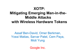 XOTP: Mitigating Emerging Man-in-the