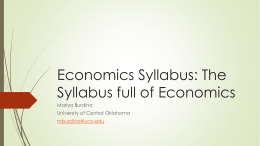 Economics Syllabus: The Syllabus full of
