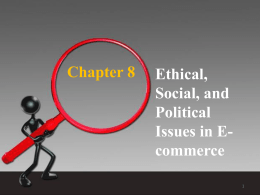 Understanding Ethical, Social, and Political Issues in E