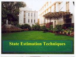 Basics of state estimation