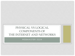 Physical vs logical components of the internet