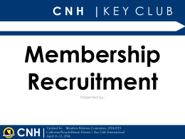 Membership Recruitment