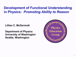 Physics Education Research: Scientific Reasoning Skills