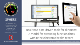 A model for extending functionalities within the electronic health