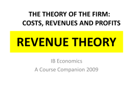 Theory of the Firm-Revenue