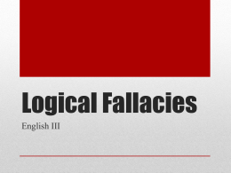 Logical Fallacies