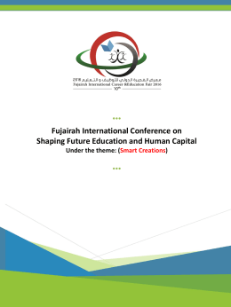 Speakers and Agenda - Fujairah International Career