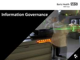 Information Governance - Barts Health NHS Trust