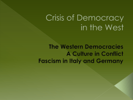 Crisis of Democracy in the West
